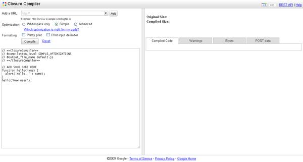 Closure Compiler - arunace