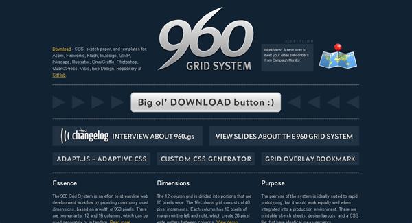 960 grid system css framework - arunace blog