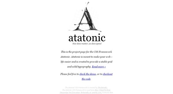 atatonic css framework - arunace blog