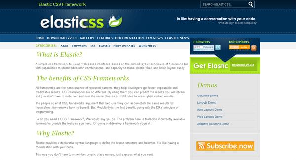 elastic css framework - arunace blog