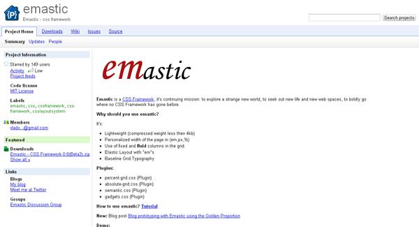 emastic css framework - arunace blog