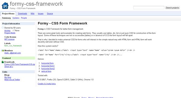 formy css framework - arunace blog
