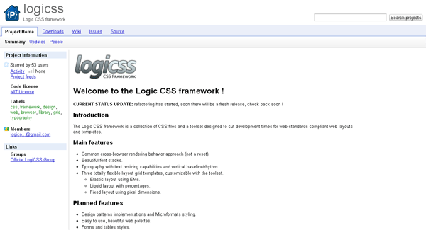 logic css framework - arunace blog