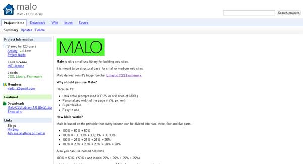 malo css framework - arunace blog