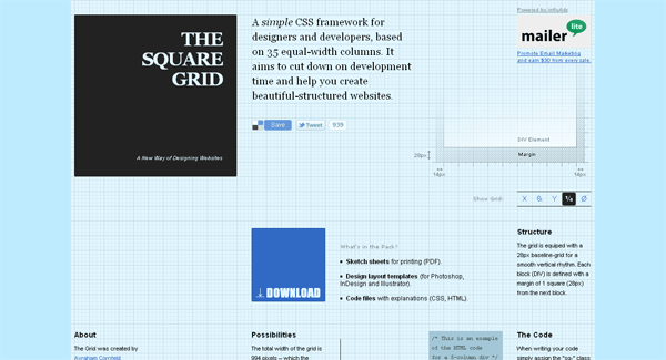 the square grid css framework - arunace blog