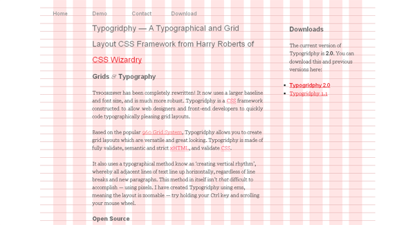 typogridphy css framework - arunace blog