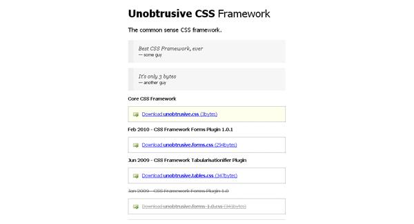 unobtrusive css framework - arunace blog