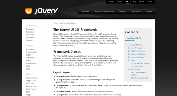 jQuery UI Theming API - arunace