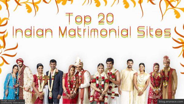 top 20 indian matrimony sites - arunace