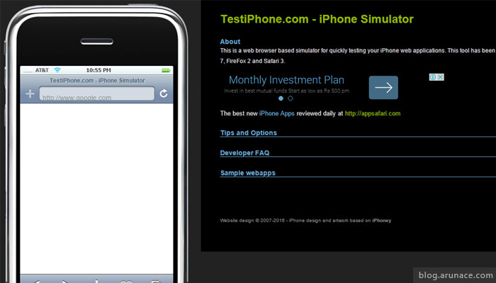 testiphone.com - ipad iphone simulators - arunace
