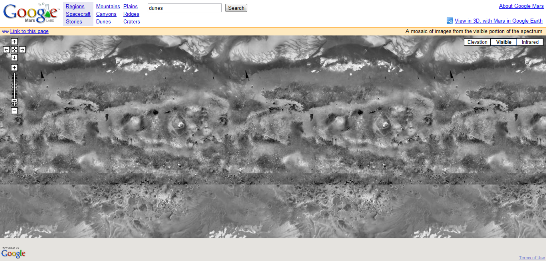 Google Mars Visible View Screenshot