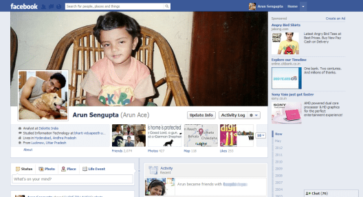 Facebook Profile Page - Arunace