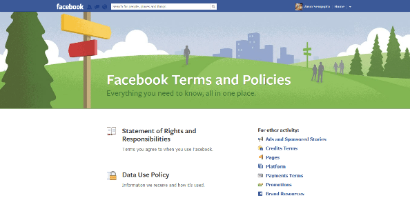 Facebook Terms & Conditions - Arunace
