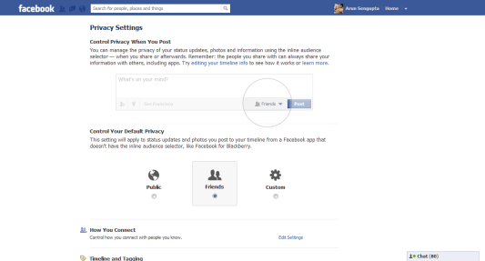Facebook Privacy Settings - Arunace