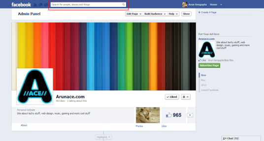 Facebook Search - Arunace