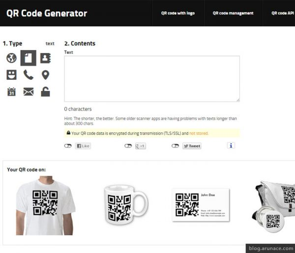 Generate QR Code Online goqr me arunace