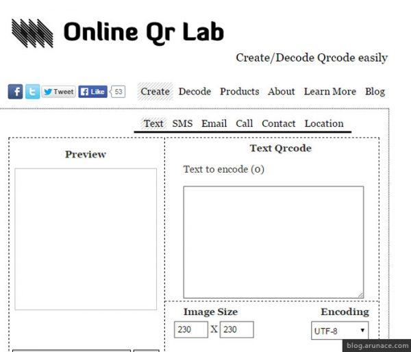 online qr lab arunace