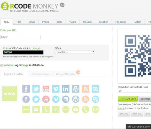 qr code monkey arunace