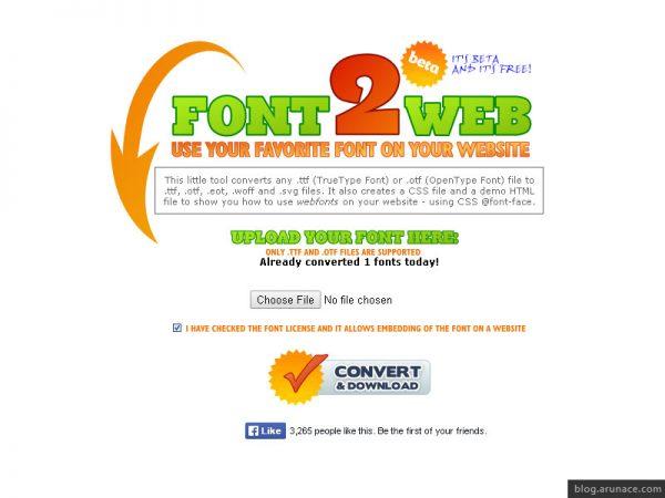 font2web-arunace