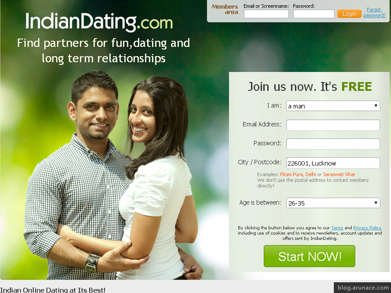 Online indian dating