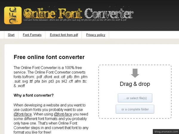 online-font-converter-arunace