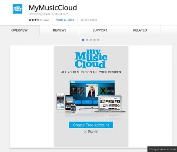 my music cloud arunace