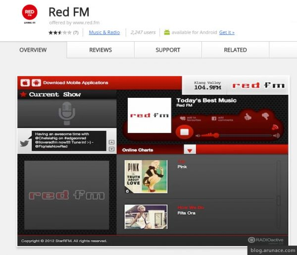 red fm arunace