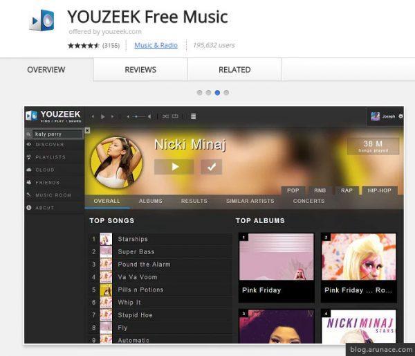 youzeek free music arunace