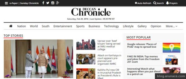 deccan chronicle arunace