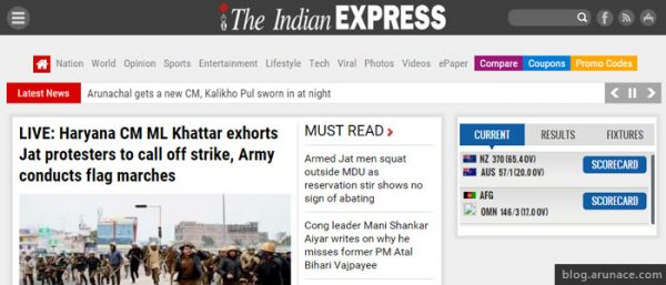 the indian express arunace