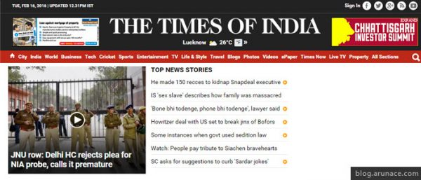 the times of india arunace