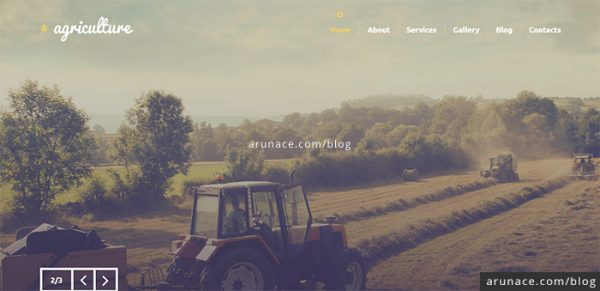 crop farming wordpress theme agriculture-arunace