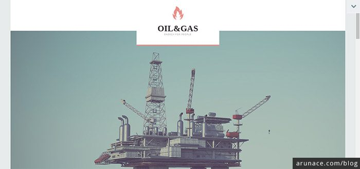 oil and gas industrial wordpress themes arunace