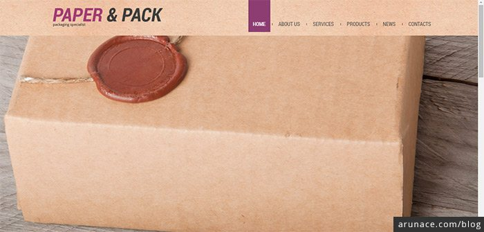 paper and pack industrial wordpress themes arunace
