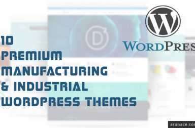 premium manufacturing industrial wordpress themes - arunace