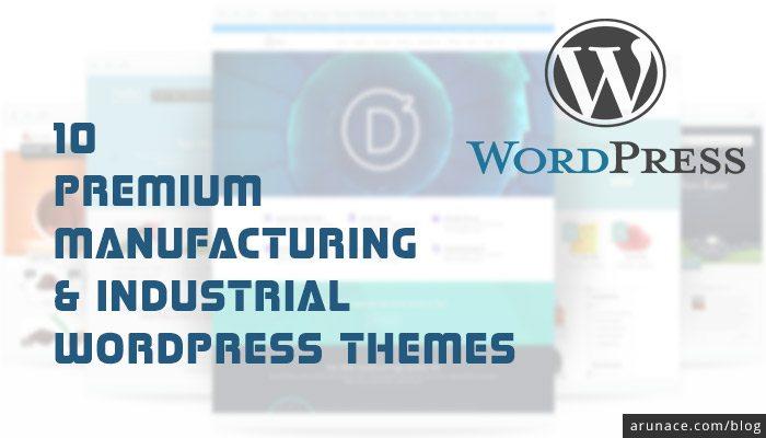 premium manufacturing industrial wordpress themes - arunace