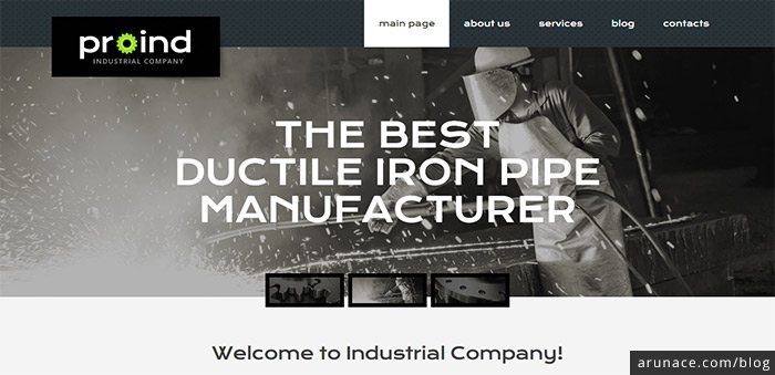 proind steel industry theme wordpress arunace