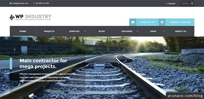 wp industry manufacturing business wordpress theme arunace