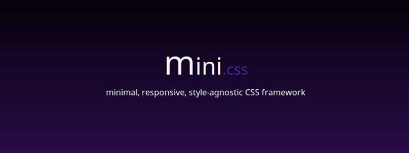mini css framework - arunace