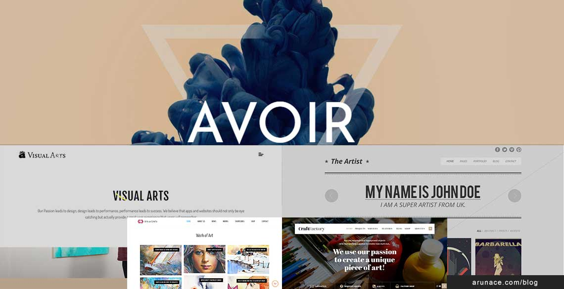 Art and craft wordpress themes - arunace blog