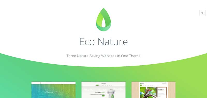 Eco Nature wordpress theme - arunace blog