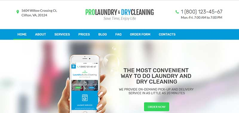 Laundry wordpress theme - arunace blog