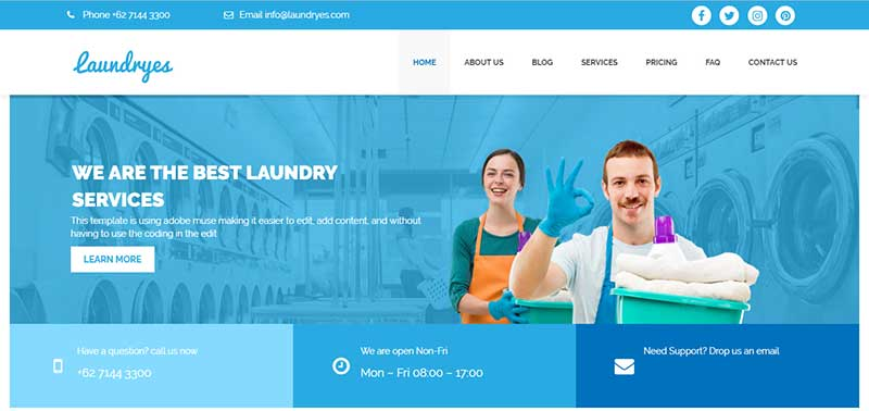 Laundryes wordpress theme - arunace blog