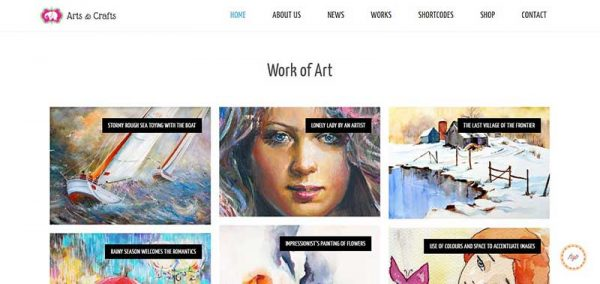 arts and crafts wordpress theme - arunace blog
