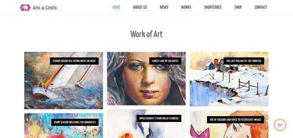 arts and crafts wordpress theme - arunace blog