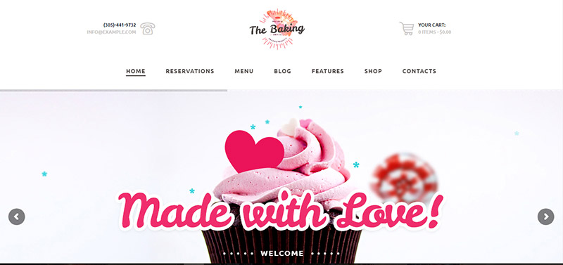 bakery cake shop cafe wordpress theme - arunace blog