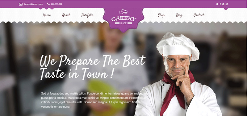 cakeryshop cake wordpress theme - arunace blog