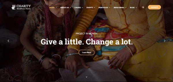 charity wordpress theme - arunace blog
