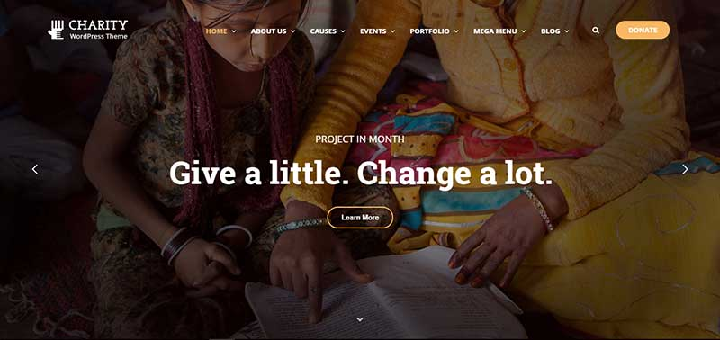 charity wordpress theme - arunace blog