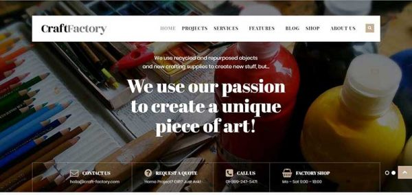 craftfactory wordpress theme - arunace blog